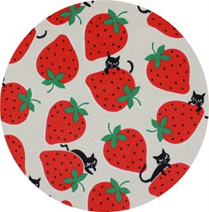 Japanese Import, CANVAS, Strawberry Cat Natural