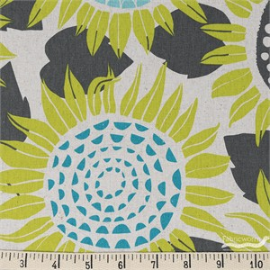 Sarah Watts for Cotton and Steel, Front Yard, CANVAS, Sunflowers Yellow