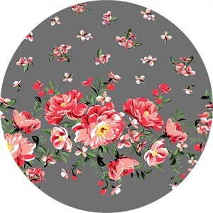 Michael Miller, Bed of Roses, Cabbage Rose Pearl (Single Border Print)