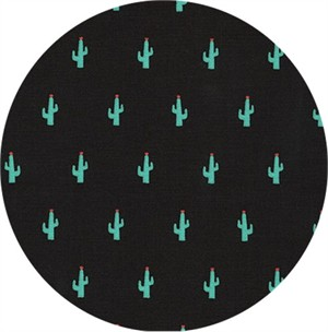 Sevenberry for Robert Kaufman, Mini Prints, Cactus Black