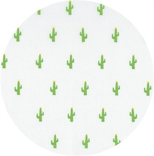 Sevenberry for Robert Kaufman, Mini Prints, Cactus White