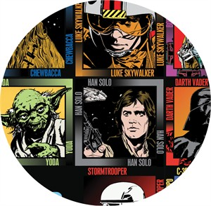 Camelot Fabrics, Star Wars, Character Quilting Blocks Multi(24in Panel)