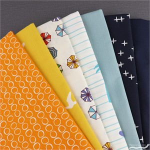 Fabricworm Custom Bundle, ORGANIC, Cali Cruise in FAT QUARTERS 7  Total