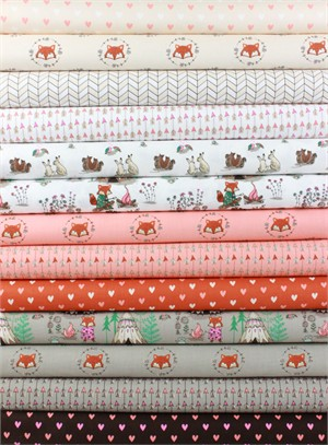 Camelot Fabrics, Wilderness in FAT QUARTERS 13 Total
