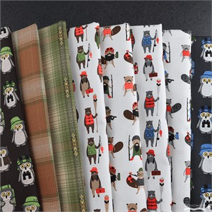 Fabricworm Custom Bundle, Camp Adventure FAT QUARTERS 8 Total