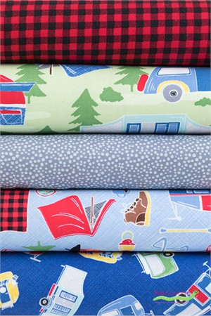 Timeless Treasures, Campsite in FAT QUARTERS 5 Total