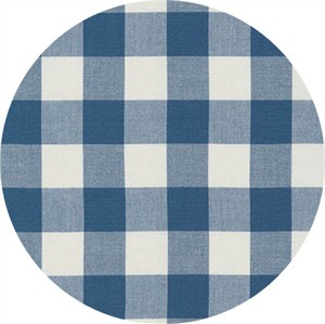 "Robert Kaufman, Carolina Gingham 1"", Denim"