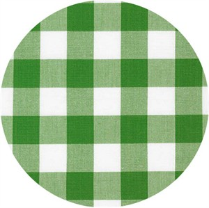 "Robert Kaufman, Carolina Gingham 1"", Kelly"