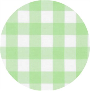 "Robert Kaufman, Carolina Gingham 1"", Mint"