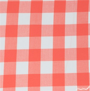Robert Kaufman, Carolina Gingham 1 Inch, Coral