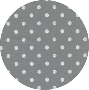 Rifle Paper Co. for Cotton and Steel, Wonderland, Caterpillar Dots Grey