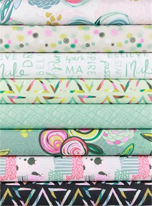Sew Caroline for Art Gallery, Chalk & Paint in FAT QUARTERS 7 Total