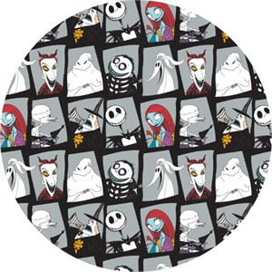 Camelot Fabrics, Nightmare Before Christmas, Character Blocks Stone