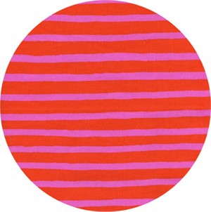 Rifle Paper Co. for Cotton and Steel, Wonderland, Cheshire Stripe Orange