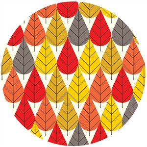 Charley Harper for Birch Fabrics Organic, FLANNEL, Octoberama Fall