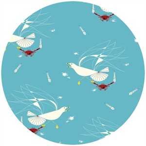 Charley Harper for Birch Organic Fabrics, Maritime, Seagull and Crab