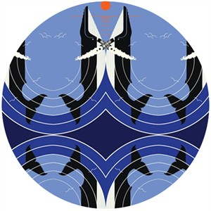 Charley Harper for Birch Organic Fabrics, Maritime, Love on the Richter Scale