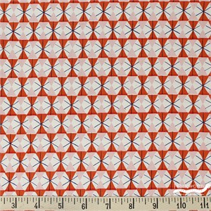 Kimberly Kight for Cotton and Steel, Welsummer, Chicken Wire Poppy