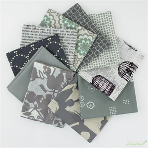 Art Gallery Fabrics, PRE-CUT Color Master, Clean Slate in FAT QUARTERS 10 Total