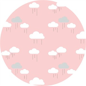 Simple Simon & Company for Riley Blake, When Skies Are Grey, Cloud Pink