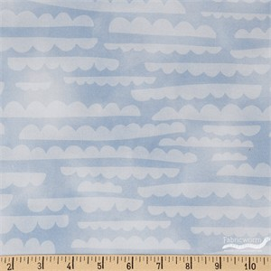 Emmie K for Robert Kaufman, Lou Lou, Clouds Blue