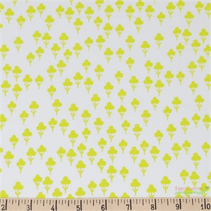 Sarah Watts for Cotton and Steel, Front Yard, Clovers Yellow