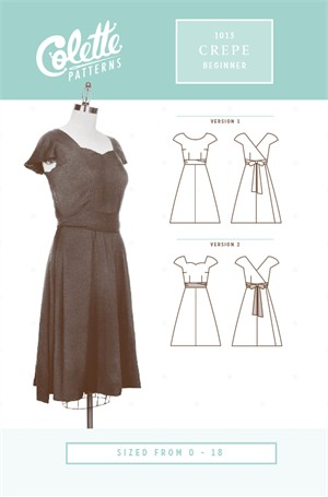 Colette, Sewing Pattern, Crepe