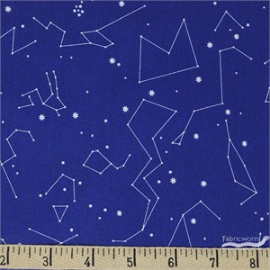 Japanese Import, DOUBLE GAUZE, Constellations Blue