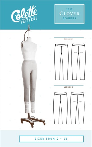 Colette, Sewing Pattern, Clover Pants