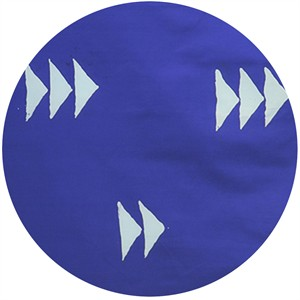 Alison Glass for Andover, Handcrafted Indigos, Flying Geese Dark Cobalt