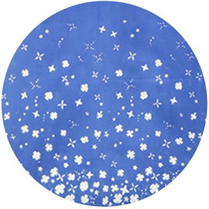 Alison Glass for Andover, Handcrafted Indigos, Petals Double Border Cobalt