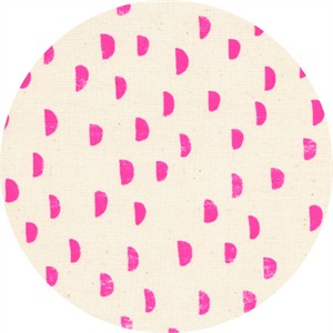 Alexia Marcelle Abegg for Cotton and Steel, Print Shop, Moons Pink