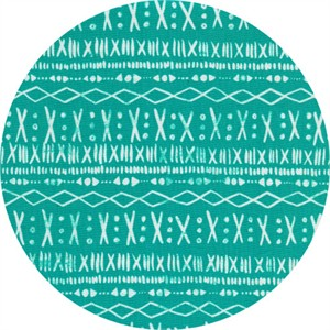 Alexia Marcelle Abegg for Cotton and Steel, Print Shop, Stitch Turquoise