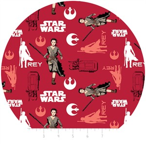 Camelot Fabrics, Star Wars: The Force Awakens, Rey Ruby