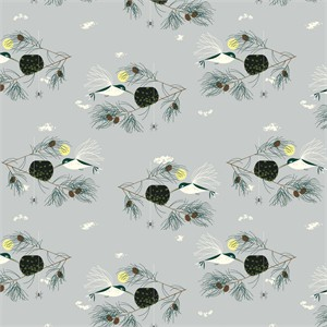 Charley Harper for Birch Organic Fabrics, Bird Architects, Ruby Throated Hummingbird