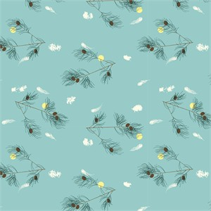 Charley Harper for Birch Organic Fabrics, Bird Architects, The Pines Sky