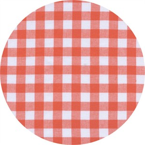 Cotton and Steel, Checkers, Half Inch, Gingham Coral