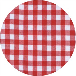 Cotton and Steel, Checkers, Half Inch, Gingham Santa
