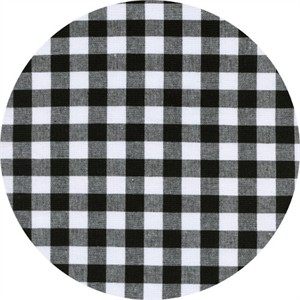 Cotton and Steel, Checkers, Half Inch, Gingham Black
