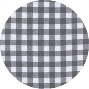 Cotton and Steel, Checkers, Half Inch, Gingham Chalkboard