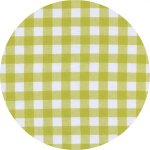 Cotton and Steel, Checkers, Half Inch, Gingham Citron