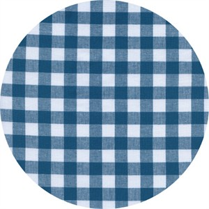 Cotton and Steel, Checkers, Half Inch, Gingham Teal