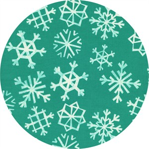 Cotton and Steel, Garland, Snowflakes Teal