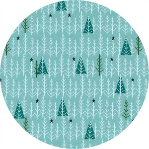 Cotton and Steel, Garland, Tree Day Mint