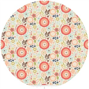 Design by Dani for Riley Blake, Woodland Spring, Floral Cream