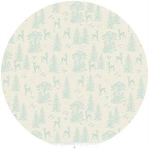Design by Dani for Riley Blake, Woodland Spring, Friends Aqua