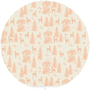 Design by Dani for Riley Blake, Woodland Spring, Friends Coral
