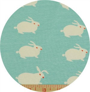 Emily Isabella for Birch Organic Fabrics, Wonderland, KNIT, White Rabbit
