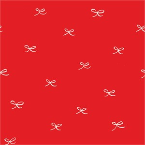 Emily Isabella for Birch Organic Fabrics, Wonderland, Bows Red