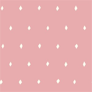 Emily Isabella for Birch Organic Fabrics, Wonderland, Diamond Deck Blush
